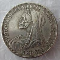 Hobo criativo 1893 grã-bretanha coroa de prata rainha victoria véu cabeça cópia moeda