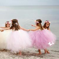 Принцесса Цветочница Свадебные платья белого платья для первой евхаристии рождения Маленькие Девочки Wear Для Свадьбы Pageant Gowns 122