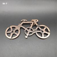 3D Puzzle Metal Cast Bike Ring Anillo de la novedad Solución de rompecabezas Juguetes educativos Prueba de desafío para el cerebro IQ
