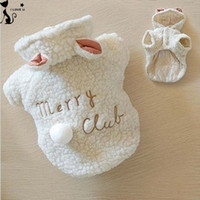Fashion Pet Costume Small Dog Clothes Coat White Sheep Puppy...