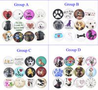 Neue Ankunft 18mm Cabochon Glas Stein Knopf Cabochon Glas Tier Haustier Hund Snaps für 18mm Snap Schmuck Armband Halskette Ring Ohrring
