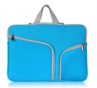 Macbook Air Pro Retina Touch Bar 11.6 13.3 15.4 pouces double poche mode ordinateur portable Doux Zipper Sleeve Bag cas