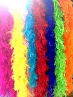 Großhandels-Türkei Federboa Schal Feuer Huhnfeder Hochzeitsfestdekoration Truthahn Federboa buntes freies Verschiffen