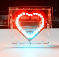 Colorful light DIY Kits 51 Single Chip Heart Shaped LED ligh...