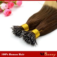 "XCSUNNY Stock Nano Ring Remy Hair Extensions 18"" 20&quo..."
