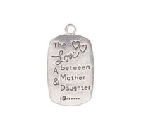 New arrive 10PCS Antiqued Silver The Love Between Mother Dau...