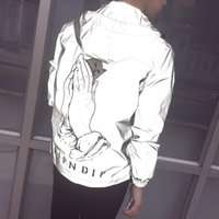 Men 3M Reflective RIPNDIP Jackets Women Hoodie Brand Clothin...