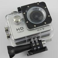 """W9 كاميرا رياضية hd عمل 2 """"wifi الغوص 30 متر كاميرات ماء 1080 وعاء كامل hd 170 ° كاميرات الكاميرا الرياضة dv سيارة 30 قطع"""