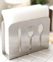 2016 nuevo envío libre de acero inoxidable servilleta de papel titular Stander Tissue 12CM * 4CM * 9CM Tissue Boxes Servilletas Decoración de la mesa Accesorios