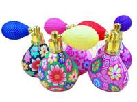 Prix usine 10ML 1 / 3OZ Fleur Bouteille De Parfum Argile De Polymère Gasbag Bouteille De Parfum Atomiseur Verre Huile Essentielle Flacons Flacons