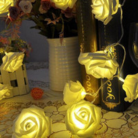 20 LED Rose Flower Fairy String Lights Wedding Garden Party ...