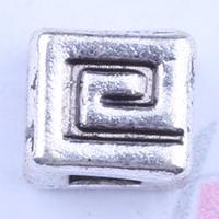 Nova moda de prata / cobre retro buraco quadrado contas de fabricação DIY jóias pingente fit colar ou pulseiras charme 1200 pçs / lote 2933y