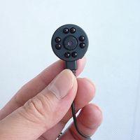 Pinhole Camera CMOS 1/4 600TVL 8 LED infraröd nattvision mini cctv kamera ljud video färg säkerhetsövervakning DIY mikro kamera
