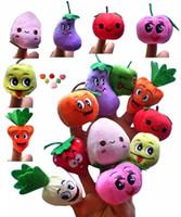 500 UNIDS / LOTE Frutas blandas Veggie marionetas de dedo conjunto Muñecas de marionetas de dedo / Juguetes Apoyos de contar historias / Herramientas Juguete Modelo Bebés / Niños / Juguetes de niños