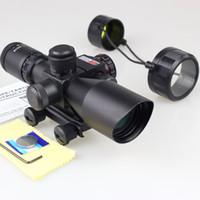 2.5 - 10x40 двойной подсветкой прицел ж / красный лазер и Пикатинни горе