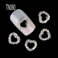 Newest 10 pcs pack 3D Nail Art Decorations Heart Diamond Rhi...