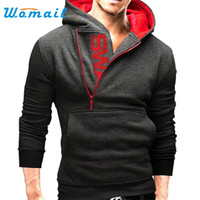 Wholesale- New Brand Men Hoodies and Sweatshirts Fashion Sli...