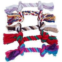 Домашние животные Собаки Pet Saceates Pet Dog Puppy Cotton Colt Coot Mount Toy Прочная плетеная Костяная Веревка 16см Смешной инструмент XMHM072