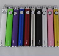 Ego Evod Battery Cigarettes électroniques Vape Stylos pour 510 Fil Mt3 CE5 CE5 CE6 ViviVA Nova DCT Vaporisateur Atomizer 650/900 / 1100mAh Coloré