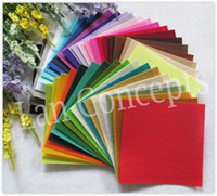Spedizione gratuita fai da te poliestere feltro tessuto non tessuto feltro foglio per lavoro artigianale 42 colori - 150x150x1mm 84 pz / lotto LA0073