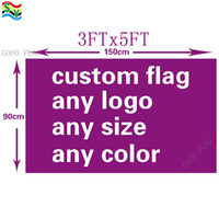 Banderas de bandera GoodFlag Custom 3X5 FT 90 * 150CM Polyster Outdoor