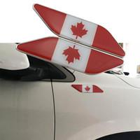 Adesivo per decalcomanie parafango 3D 2PCS Adesivo per camion emblema per auto in metallo del Canada Logo Badge Decorare