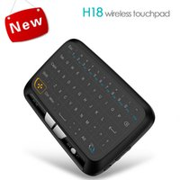 H18 Wireless Mini Keyboard Backlit Full Touchpad 2. 4G Fly Ai...