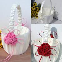 꽃 소녀 바구니 결혼식 호의 바구니 들러리 신부 들러리 액세서리