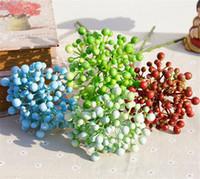 "Hot Plastics vlezige plant 40cm / 15.75 ""Lengte 24 stks / partij kunstmatige passiefruit voor DIY bruids boeket Corsage accessoires"