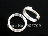 도매 - 1000은 도금 더블 루프 오픈 점프 반지 6mm / 패션 보석 Diy 무료 배송