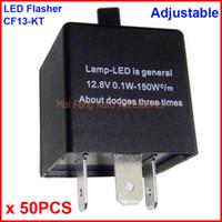 50 UNIDS CF13-KT LED Flasher Ajustable Color 3 Pin Módulo de Relé Electrónico Arreglar Coche LED SMD Error de Señal de Giro Parpadeo Intermitente 12V 0.02A a 20A
