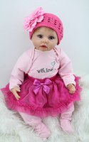 22 pouces Silicone Lifelike Realistic Baby Dolls Kits Lovely Gift, Silicone reborn baby doll Kits Baby Toys Soft Girls Gifts