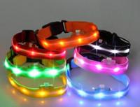Kołnierz Pet Dog Regulowany, LED Flashujące paski, Nylon Luminous, Trening Pas Paski kolorowy, aby zapewnić nowe świąteczne lampy hurtowe z d