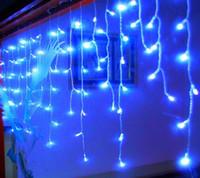 Yeni 12 m DROOP 0.7 M 360 LED ICICE Dize Işık Noel Düğün Noel Parti Dekorasyon Karlandırıcı Perde Işık ve Kuyruk Fiş