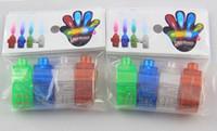 2015 إضاءة الإصبع الصمام ضوء الليزر شعاع الإصبع البنصر أضواء الليزر 4 ألوان مع كيس مقابل