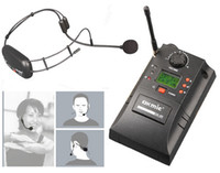 Nuevo micrófono inalámbrico Auriculares de Gimnasia Profesional UHF PLL instrumento Sistema Inalámbrico Salud Deportes micrófono inalámbrico de audio envío gratis