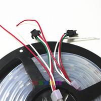 10x5M 60 LEDs / M WS2811 IC 300 5050 RGB SMD 가동 가능한 방수 IP67 디지털 방식으로 꿈 색깔 LED 지구 빛 백색 PCB DC12V