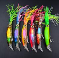 maschere di calamaro ganci Buzzbait richiamo 14 centimetri 40g 6Colors durevole Pesca Plastic Sleeve-Pesce esca di pesca l'attrezzatura di alimentazione