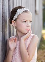 أزياء الأطفال الفتيات أزياء hairband الشعر التبعي الأطفال مطرز الماس الزهور headbend A7038