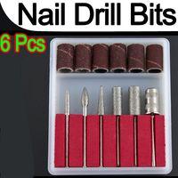 Großhandels-Fachmann 6pcs Nagel-Bohrer-Stückchen für elektrische Bohrmaschinen, die Maniküre-Werkzeugmaschine P1 füllen