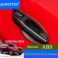 QCBXYYYYXH ABS углерода черная отделка дверные ручки крышка наклейки наружное украшение для Mazda CX-5 2017 2018 дверная ручка чаша крышка