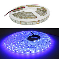 16.4ft 5M UV 395nm 5050 SMD Purple 300 LED Flex Tira de luz impermeable 12V DC