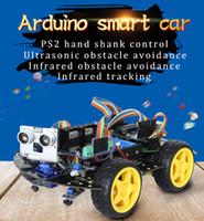 Kit de développement de voiture intelligente Arduino kits de fabricant de robots d'apprentissage 4WD pris en charge installer Arduino et Raspberry
