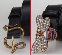 Bee snake good men' s belts real genuine leather belt Ma...