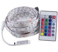 5M 12V 5050 RGB LED Streifen, 150 LED Band +24/44 Schlüsselfernsteuerungsinstallationssatz Flexibler LED Bandinstallationssatz Freies Verschiffen