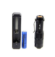 Ultrafile Mini Flashlight CREE Q5 LED Taschenlampe einstellbar Fokus Zoom wasserdichte Taschenlampen Lampe +14500 Batterie + 103i Ladegerät