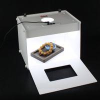 Freeshipping 303 * 246 * 238 / mm mini 2pcs strisce di luce professionale portatile D30 Mini Kit fotografico Studio fotografico foto a led Light Box Softbox