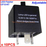 10PCS CF13-KT LED Flasher Adjustable Color 3 Pin Electronic Relay Module Fix Car LED SMD Turn Signal Error Flashing Blinker 12V 0.02A TO 20A
