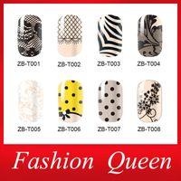 I più nuovi adesivi nail art, 3 fogli / lotto Adesivo Liscio Liscio Design Full Wrap Nail Foil Patch, Accessori per manicure Manicure Accessori