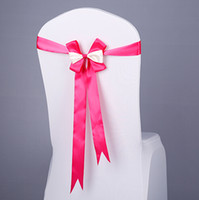 Gratuit EMS DHL (Pas besoin de faire le nœud) Chaise de luxe de mariage Elastic Cover Jupettes Party Banquet Sash Décoration Bow